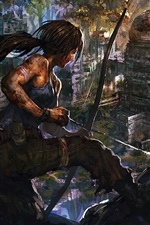 Preview iPhone wallpaper Art drawing, Tomb Raider, Lara Croft