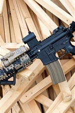 Assault rifle, wood