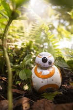 Preview iPhone wallpaper BB8 robot, plants, toy, Star Wars