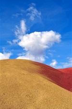 iPhone fondos de pantalla Barkhan desierto, arena, cielo, nubes
