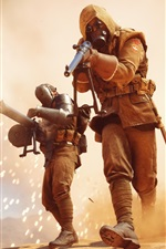 Preview iPhone wallpaper Battlefield 1, soldiers, fight