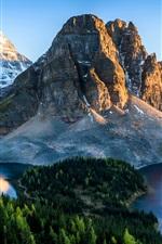 Beautiful nature, Banff National Park, lake, mountains, trees, Canada