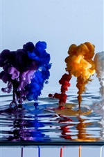 Beautiful watercolor colors in water