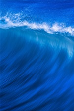 Preview iPhone wallpaper Blue sea, waves, water splash, nature