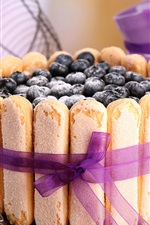 Preview iPhone wallpaper Blueberries cake, food