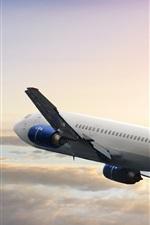 Preview iPhone wallpaper Boeing passenger plane flight, sky, clouds