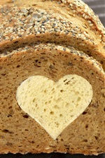 Preview iPhone wallpaper Bread, love heart