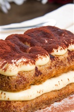 Preview iPhone wallpaper Cake, dessert, tiramisu, sweet food