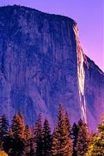 Preview iPhone wallpaper California, trees, rocks, mountains, Yosemite National Park, USA
