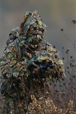 Preview iPhone wallpaper Camouflage, binoculars, soldier