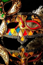Carnival mask, reflection, black background
