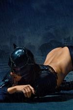 Preview iPhone wallpaper Catwoman, woman, rain