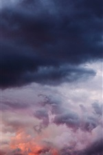 Preview iPhone wallpaper Cloudy sky, thick clouds