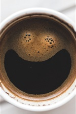 Coffee, foam, top view