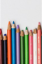 Preview iPhone wallpaper Colored pencils, colorful, white background