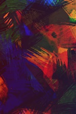 Preview iPhone wallpaper Colorful abstract picture, paint, texture