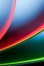 Papéis coloridos, vista lateral