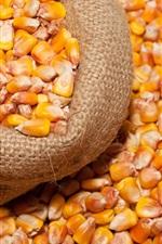 Preview iPhone wallpaper Corn kernels, grain, bag