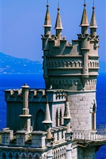 Preview iPhone wallpaper Crimea, fortress, sea, blue