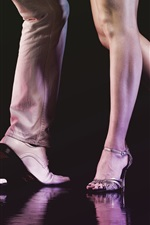 Preview iPhone wallpaper Dance, man and woman legs, shoes