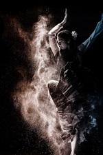 Preview iPhone wallpaper Dancing girl, dust