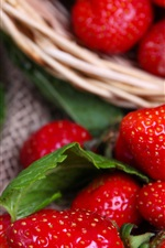 Preview iPhone wallpaper Delicious fresh strawberry