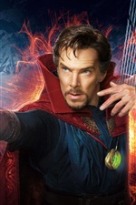 Preview iPhone wallpaper Doctor Strange, Benedict Cumberbatch, magical movie