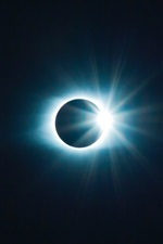 Preview iPhone wallpaper Eclipse, moon and sun, space