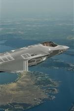 Preview iPhone wallpaper F-35 bomber flight, Lightning II