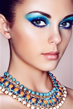 Preview iPhone wallpaper Fashion girl, portrait, makeup, jewel