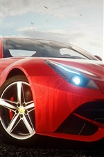 Preview iPhone wallpaper Ferrari F12 red supercar, Need for Speed