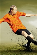 Preview iPhone wallpaper Football match, attack and defense