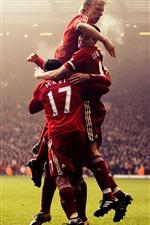 iPhone壁紙のプレビュー サッカー選手幸せ