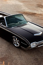 Preview iPhone wallpaper Ford Thunderbird black car top view