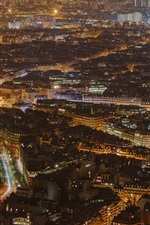 Preview iPhone wallpaper France, Paris, city night, top view, buildings, lights