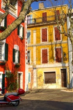 Preview iPhone wallpaper France, home, houses, trees, city