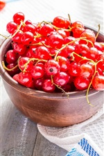 Preview iPhone wallpaper Fresh red currants