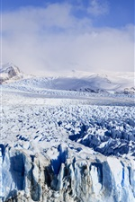 Preview iPhone wallpaper Glacier, Argentina, snow, mountains