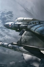 Preview iPhone wallpaper Gloster Javelin FAW.9R Military Airplane, Night Hunter