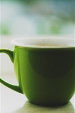 Preview iPhone wallpaper Green cup, tea
