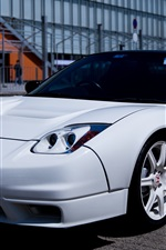 Preview iPhone wallpaper Honda white sport car front view
