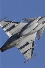 Preview iPhone wallpaper JAS 39 Gripen multipurpose bomber flight