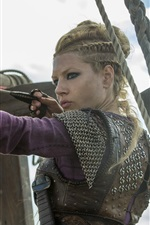 Preview iPhone wallpaper Katheryn Winnick, arrow, bow, Vikings, hot TV series