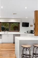 Preview iPhone wallpaper Kitchen design, furniture, modern minimalist style