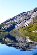 Preview iPhone wallpaper Lake, mountain, ship