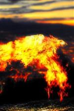 Preview iPhone wallpaper Lava phoenixes