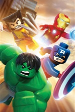 Preview iPhone wallpaper Lego movie, Marvel superheroes