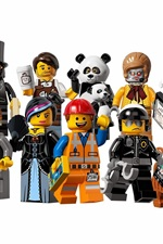 Preview iPhone wallpaper Lego movie, characters, white background