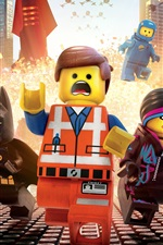 Preview iPhone wallpaper Lego movie, heroes, city