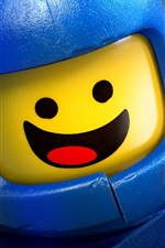 Preview iPhone wallpaper Lego movie, spaceship, happy guy